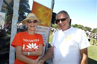 Wellness Walk Sydney 2016: SFNSW Strategy & Innovation Gen Mgr Sue Sacker with Doug Miller Wellness Walk Committee Chair