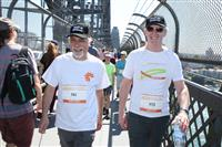 Wellness Walk Sydney 2016: Rob Ramjan - CEO SFNSW and John Feneley - NSW Mental Health Commissioner