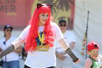 Wellness Walk Sydney 2016: Matching cap and hair - Wonder Woman does it again - or is it Cat Woman?