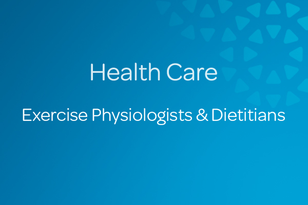 Exercise Physiologists  Dietitians